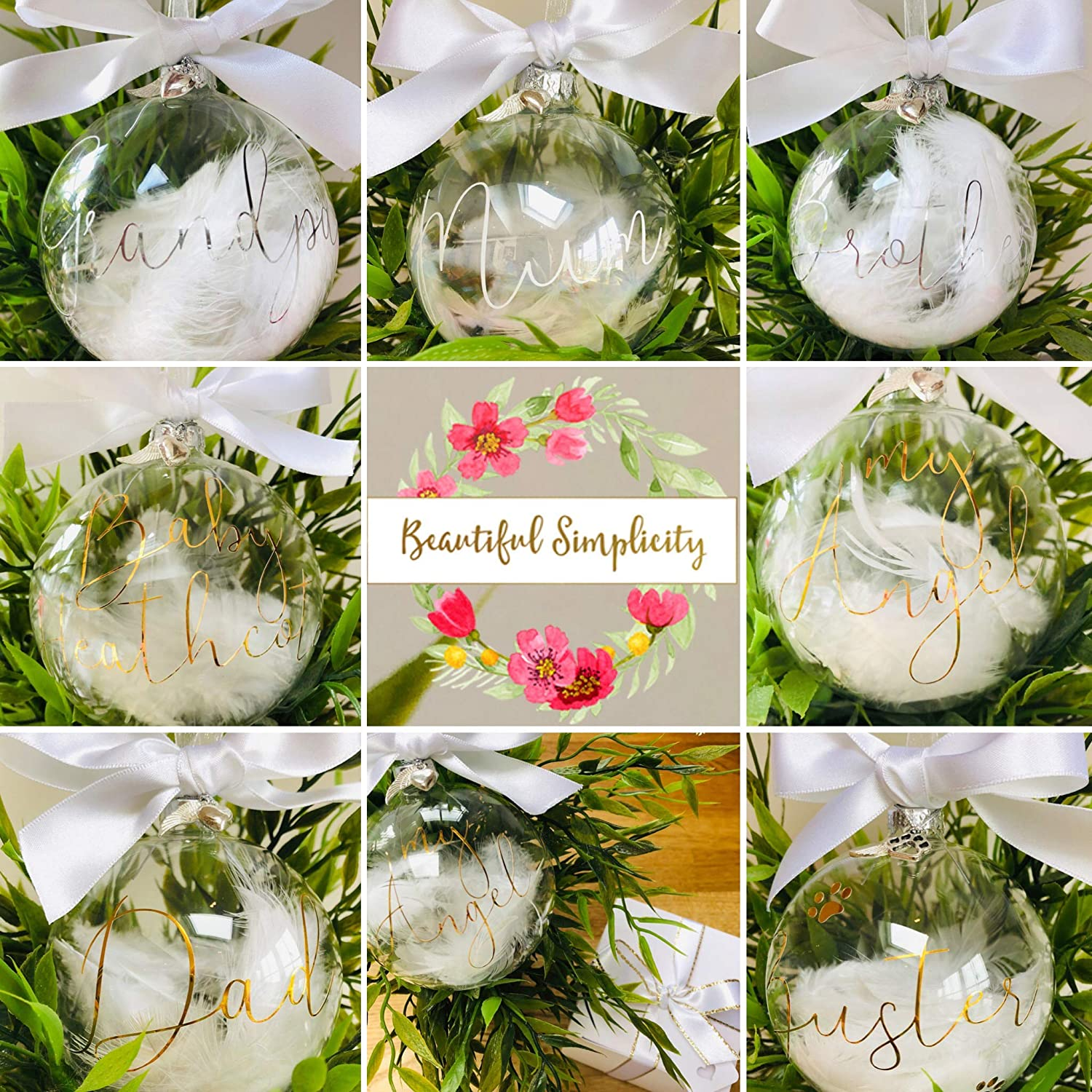 DAD Glass Christmas Memorial Bauble **Giftboxed**