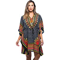 Riviera Sun African Print Dashiki Caftan for Women