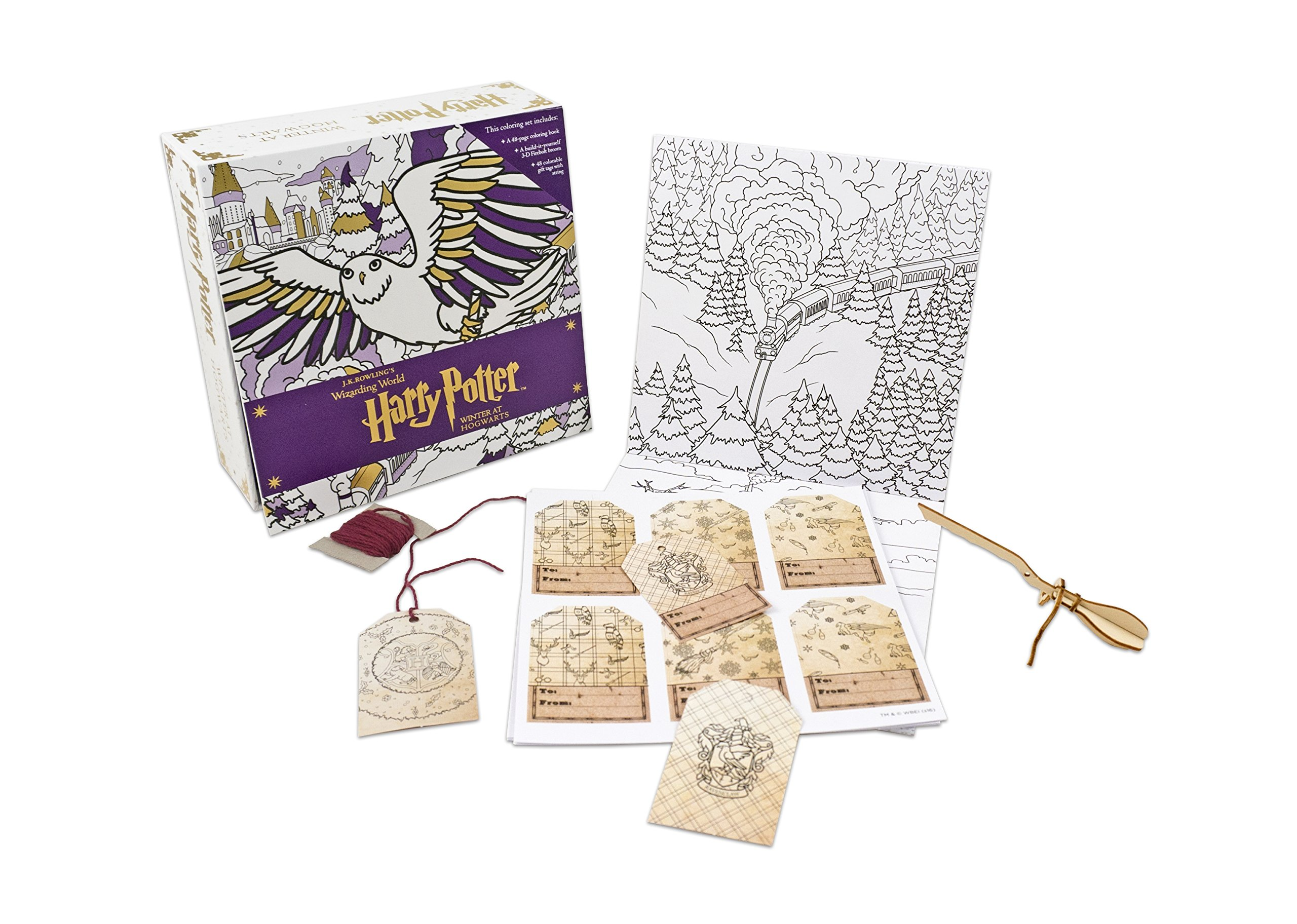 Harry Potter Winter At Hogwarts A Magical Colouring Set JK Rowlings Wizarding World Amazoncouk Insight Editions 9781406376081 Books