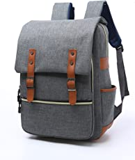 "EUATEO Laptop Backpack Business Laptop, iCasso Laptop Travel Bag Ligera y Durable Laptop Backpack Hombres y Mujeres Casual Backpack, Universidad y Niños, Multicolor 15.6""(Gray) (Gray)"