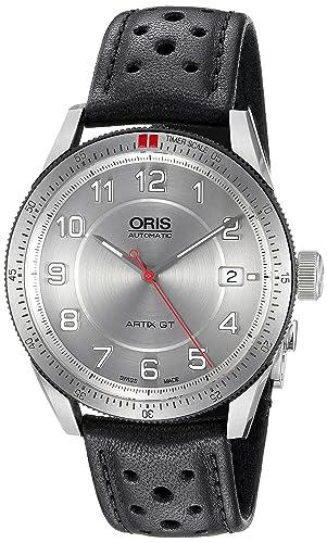 Oris Artix GT Automatic Stainless Steel Mens Strap Watch Calendar Silver Dial 733-7671-4461-LS: Oris: Amazon.es: Relojes