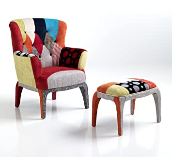 Poltrone E Pouf Design.Wink Design Kaleidos E Poltrona Con Pouf Multicolore 100 X 80 X 70 Cm