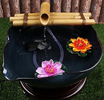 zen bambou fontaine eau avec pompe medium 305 cm trois bras de style - Fontaine A Eau Zen