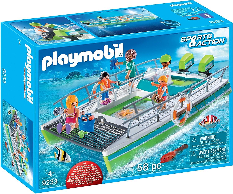 PLAYMOBIL Glass-Bottom Boat Underwater Motor Building Set