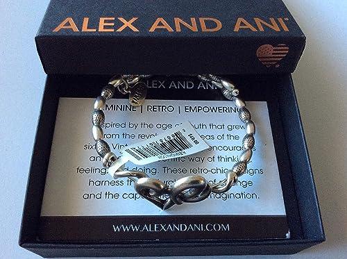 Alex and Ani ELEPHANT III Two Tone Rose Gold  Charm Bangle New W//Tag Card /& Box