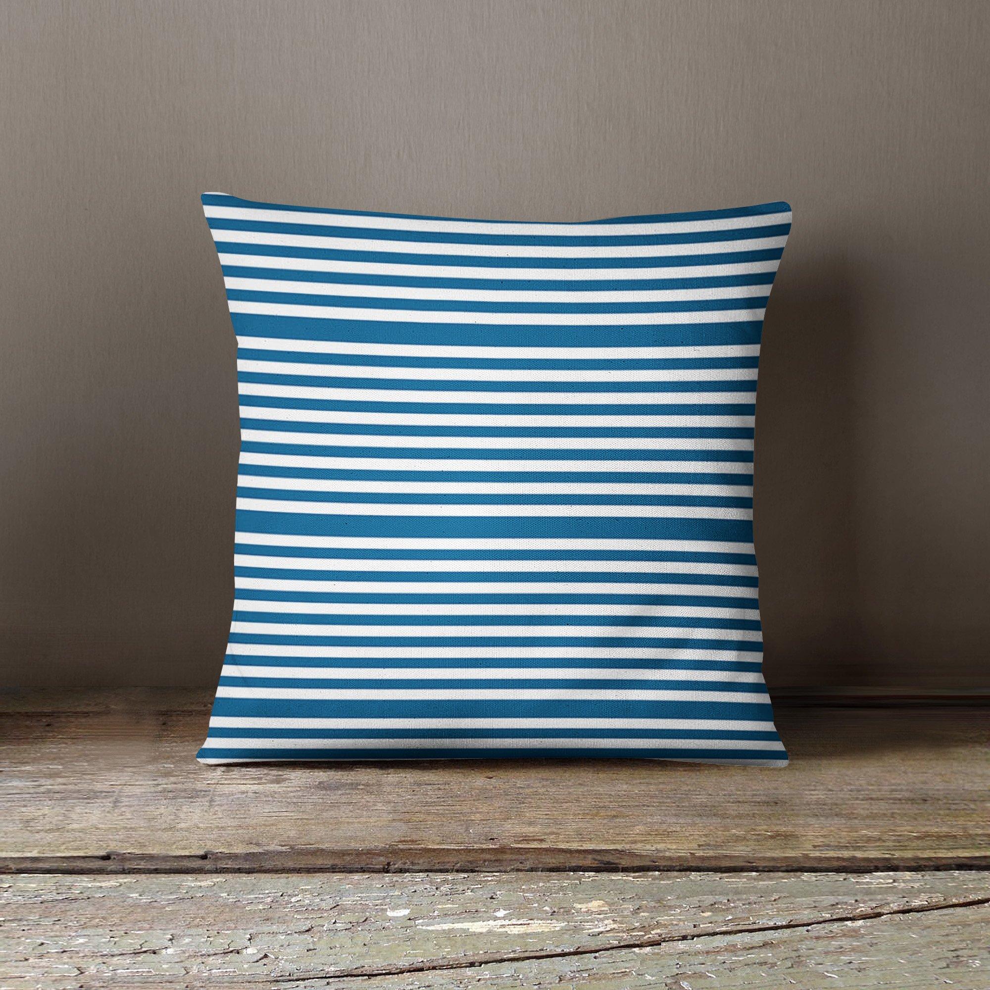 Blue Stripe Pillow Cover