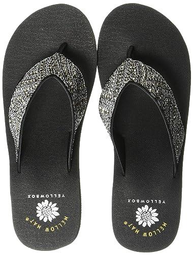 eabcce2ec17 Amazon.com   Yellow Box Women's Carree Wedge Sandal   Flip-Flops