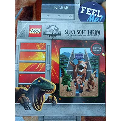 LEGO Kids Jurassic World Silky Soft Throw Blanket: Home & Kitchen
