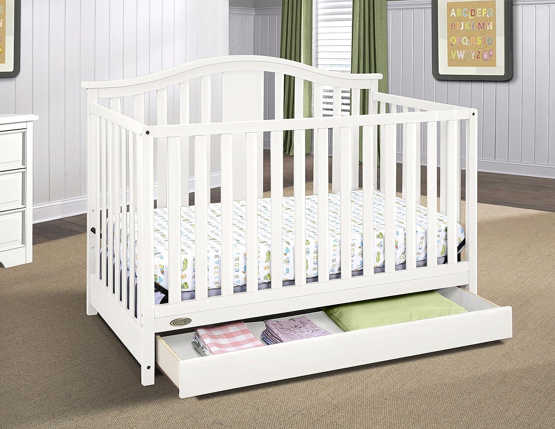 Graco Solano 4 In 1 Convertible Crib With Bonus Mattress White