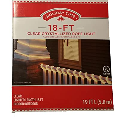 Amazon holiday time 18 clear crystallized rope light home holiday time 18 clear crystallized rope light aloadofball Choice Image