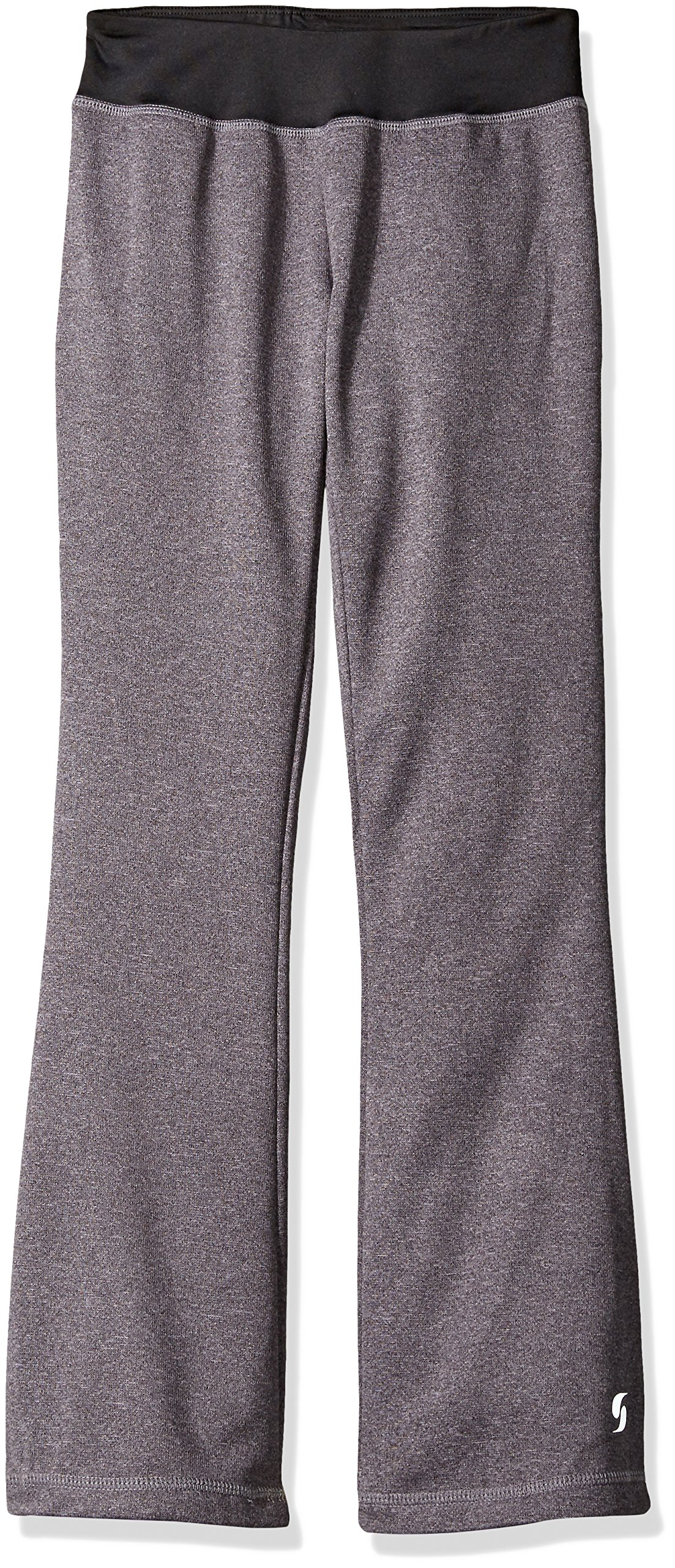 Soffe Big Girls' Fleece Boot Pant, Grey Heather, Small