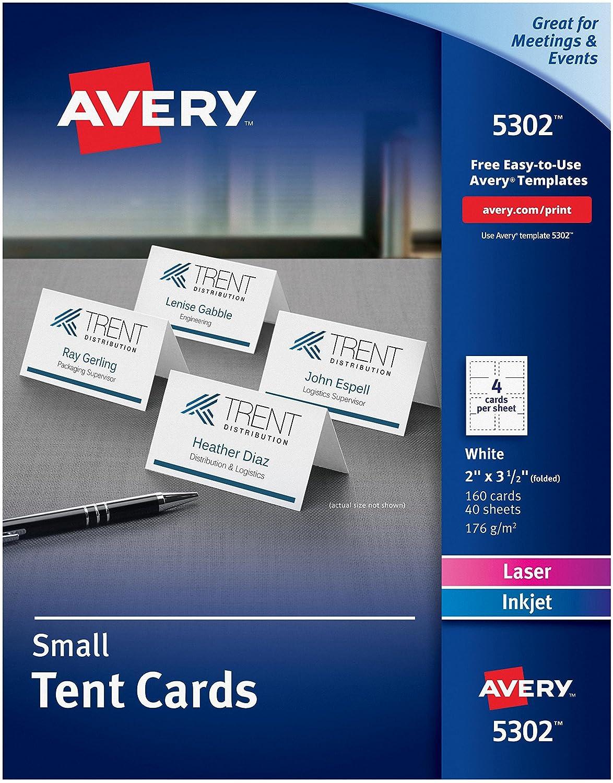 Amazon.com : Wholesale CASE of 10 - Avery Laser/Inkjet Embossed Tent ...