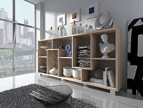 Home Innovation - Étagère Murale Rangement pour Livres, bibliothèque Salon  - Séjour, Contemporaine, séparation-Division, Montage Horizontal et ...