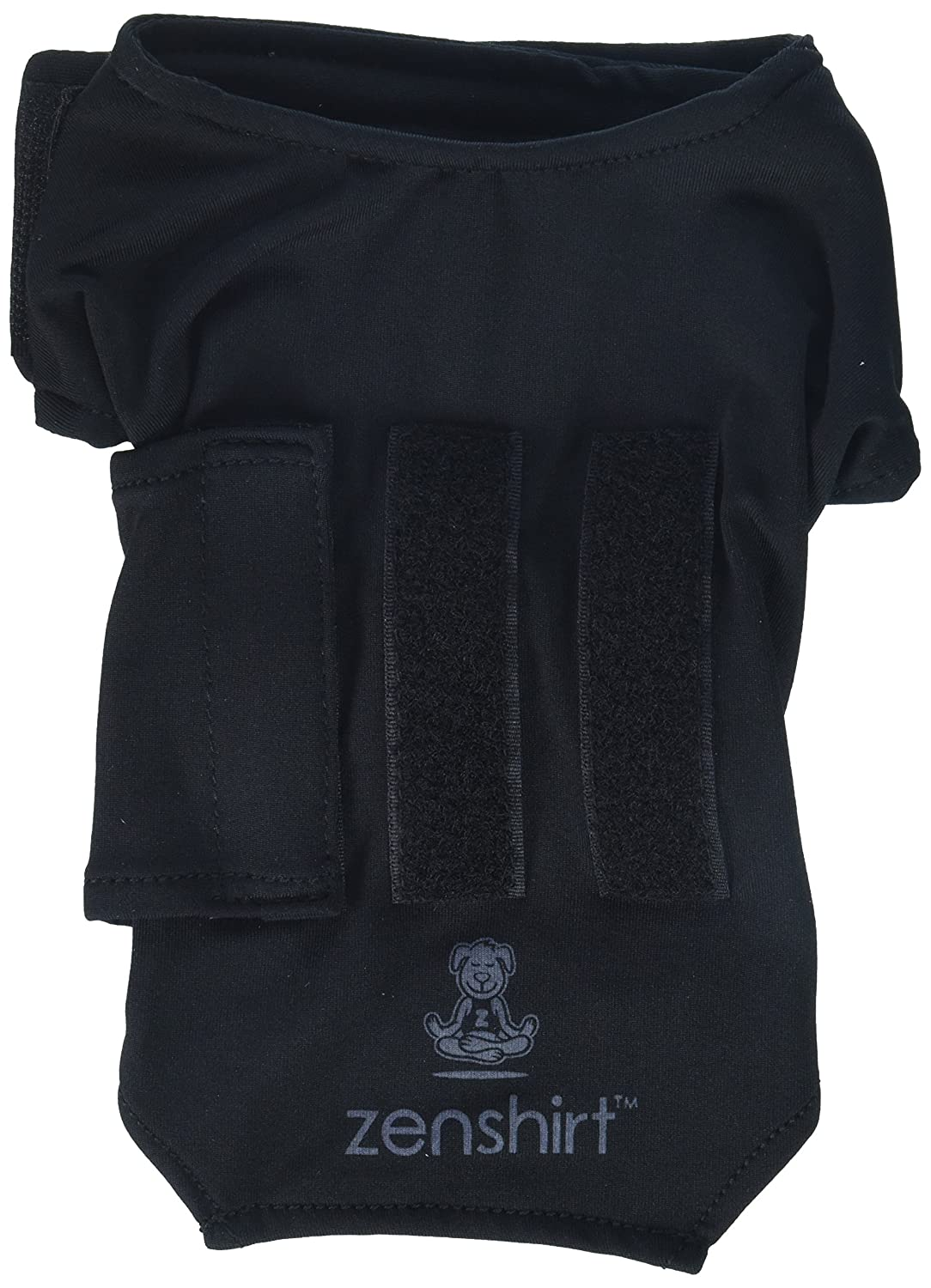 Black X-Small Black X-Small ZenPet ZenDog Anxiety Dog Vest Calming Compression Shirt X-Small