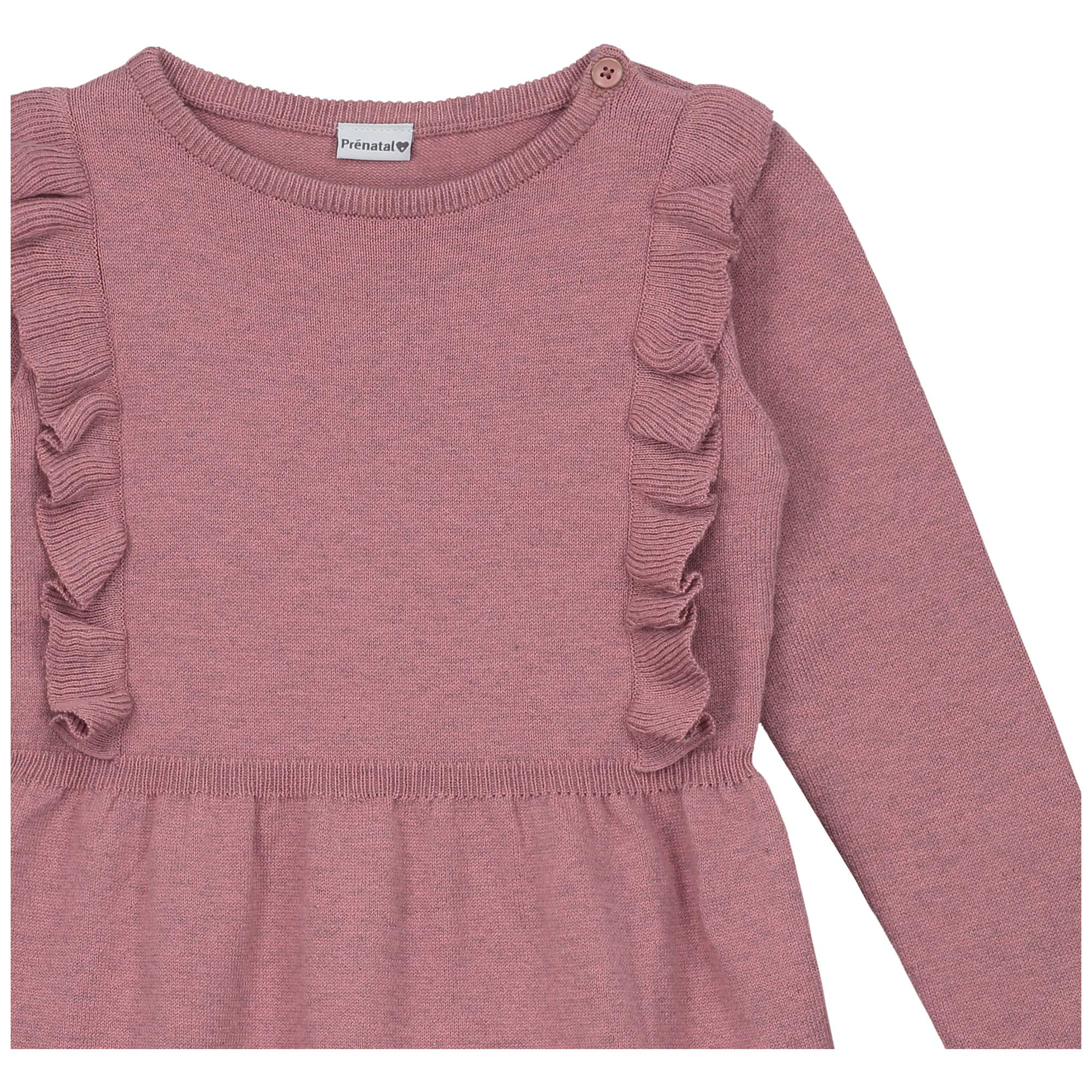 Pr/énatal M/ädchen Kleinkind Kleid mit R/üschen Grau