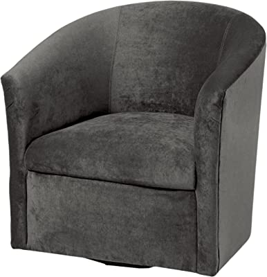 Amazon Com Comfort Pointe Elizabeth Charcoal Swivel Chair