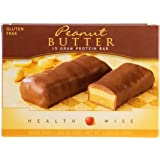 Healthwise - High Protein Diet Bar - Peanut Butter - 15g Protein- For Any Diet- Hunger Control and Appetite Suppressant - Low