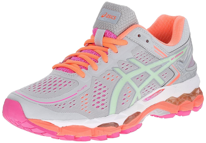 ASICS Women's GEL-Kayano 22 Running Shoe B00OU7SH0Y 5 B(M) US|Silver Grey/Pistachio/Fiery Coral