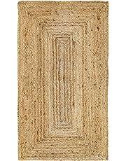 HAMID Alfombra Yute Alhambra Color Natural - Alfombra 100% Fibra de Yute