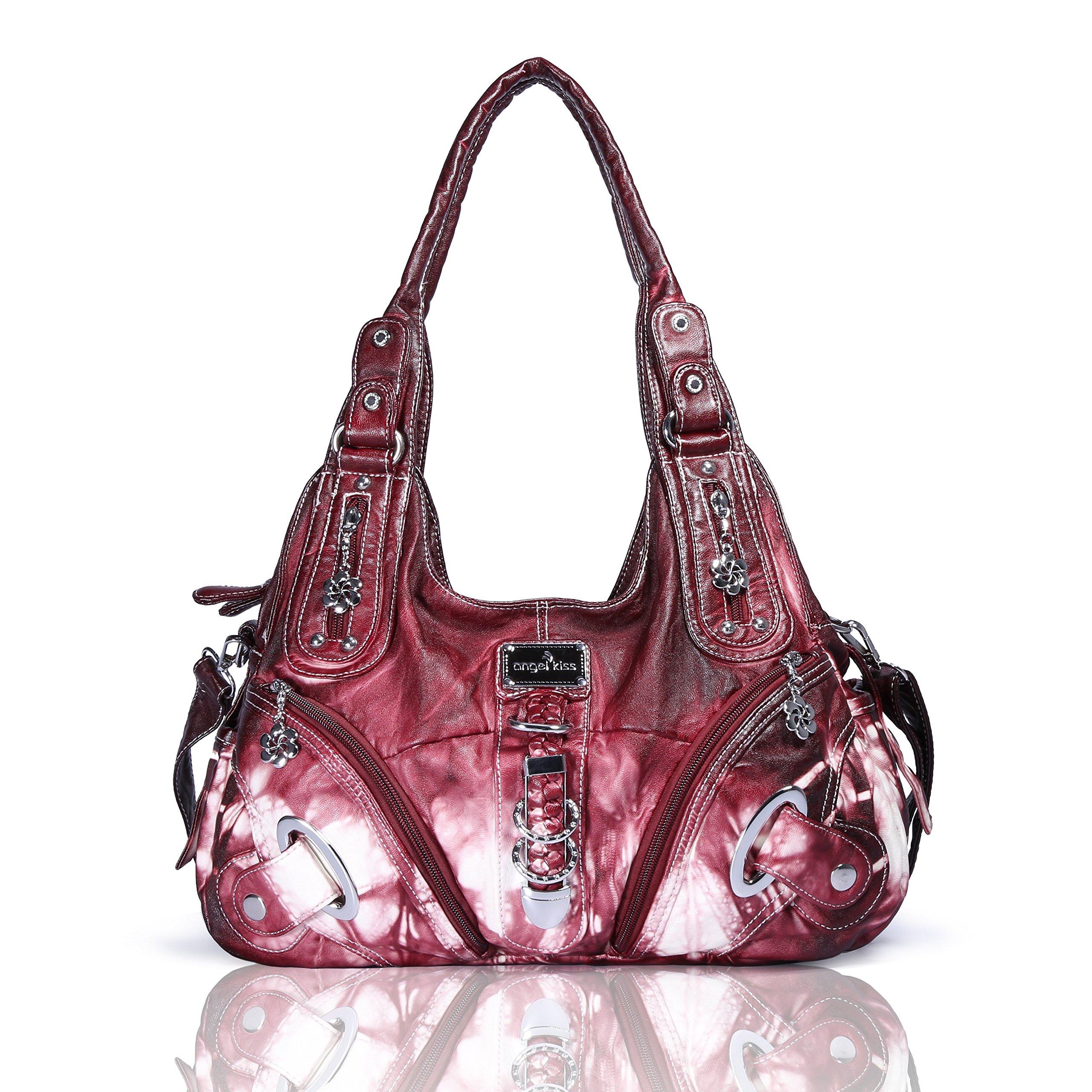 4ad0b147c5 Angelkiss Purses Handbags for Women Waterproof PU Leather Large Hobo  Shoulder Bags Top-Handle Tote