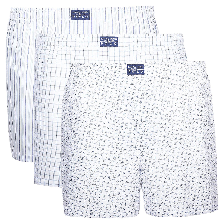 Mehrfarbig (Miscellaneous 024) Polo Ralph Lauren Herren Boxershorts (erPack 3