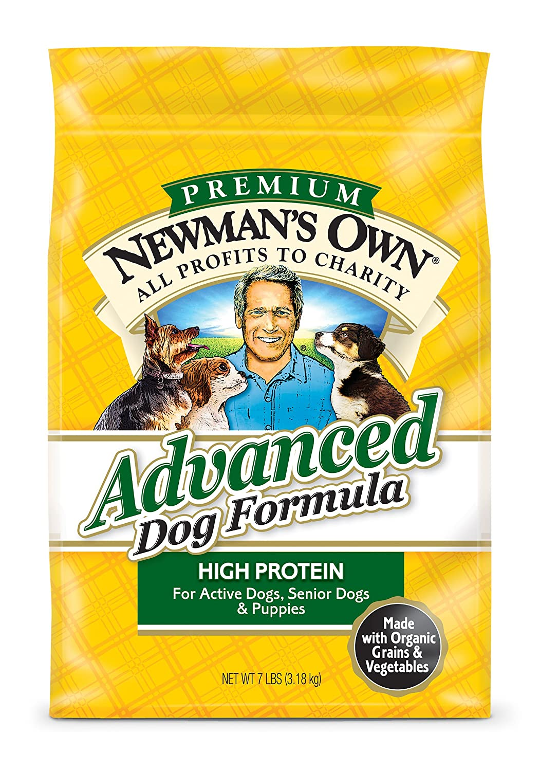 Newman's Own Advanced Dog Formula for Active or Senior Dogs, 7-Pound Bag by Newman's Own