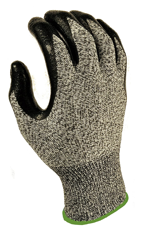 G & F 10600AL CUTShield Cut Resistant, Slash Resistant Work Gloves, Nitrile Coated Work Gloves, Grey, Large