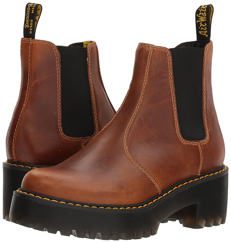 Dr. 4 Martens Women's Rometty Orleans Leather Fashion Boot B071K8GCHQ 4 Dr. Medium UK (6 US)|Butterscotch 7d1308