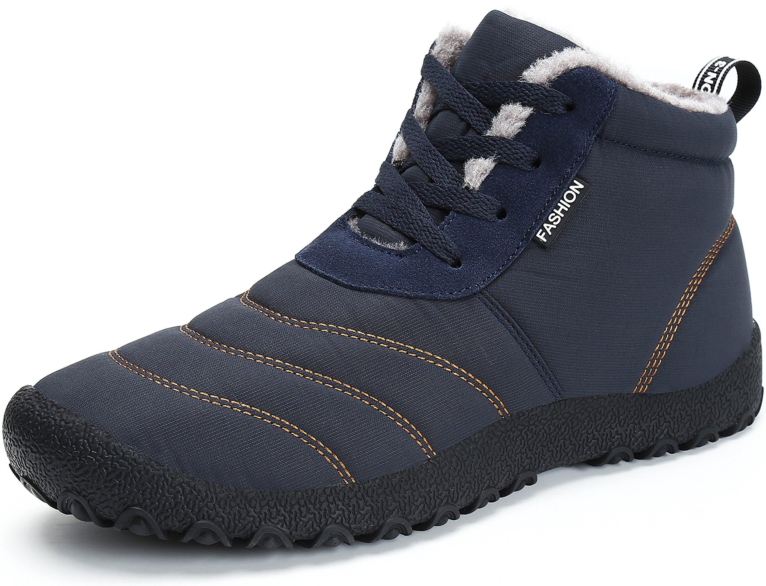 SAGUARO Stivaletti Caviglia Donna Neve Stivali Uomo Invernali Scarpe Caldo  Pelliccia Stringate Antiscivolo Boots Piatto All f82da684548
