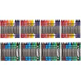 Amazon Basics Crayons - 24 Assorted Colors, 4-Pack