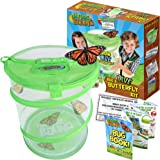 Nature Bound Butterfly Growing Habitat Kit - With Discount Voucher to Redeem Live Caterpillars for Home or School Use - Green
