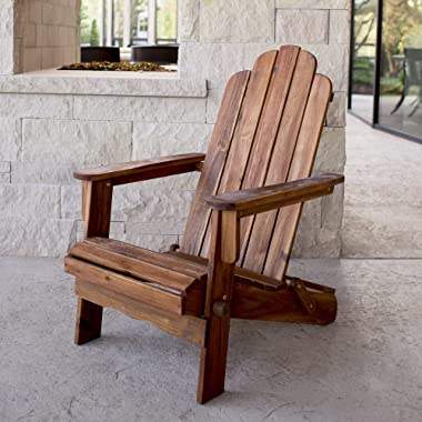 WE Furniture AZWACBR Outdoor Chair, Brown