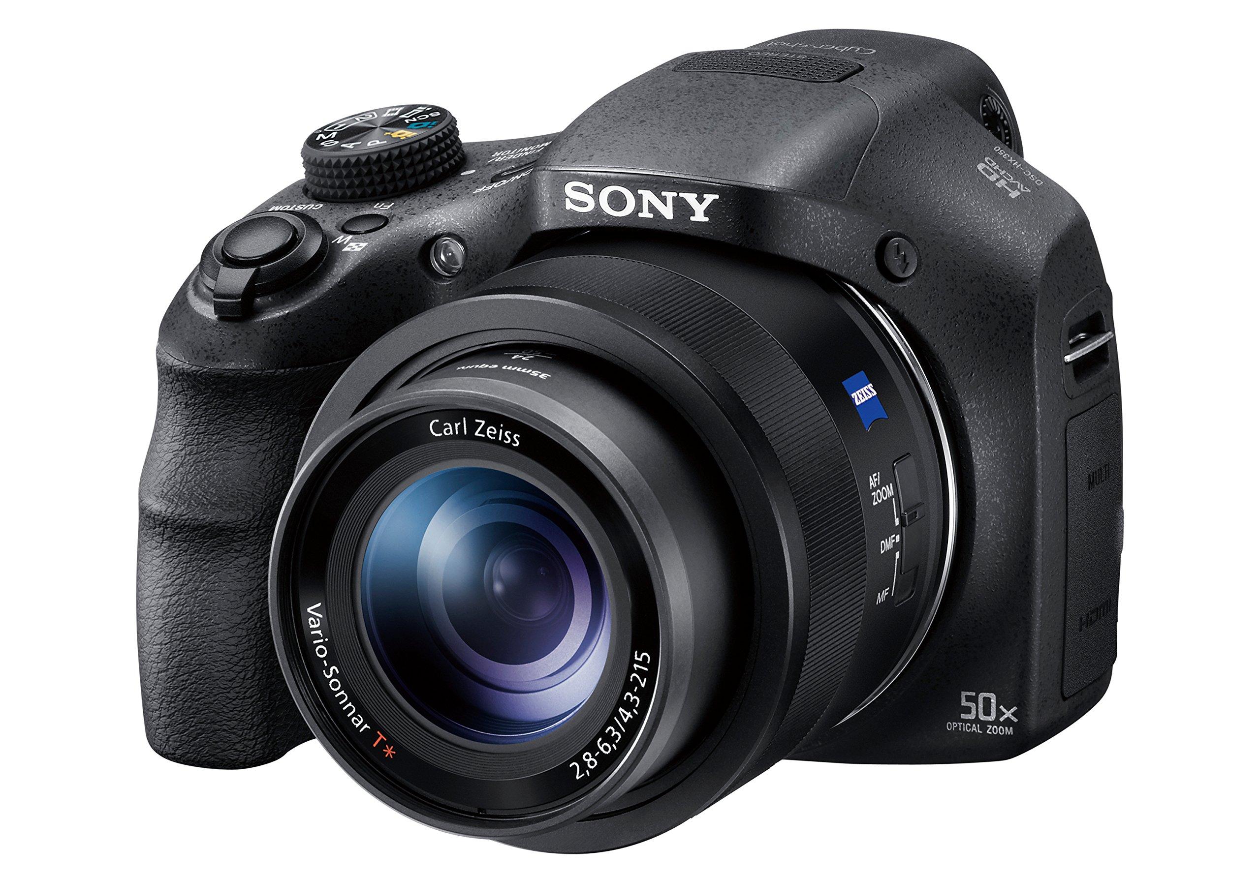 Sony DSC-HX350 - Cámara Bridge (Zoom 50x, Sensor retroiluminado CMOS de 20.4 megapíxel, BionZ X y Modo AF avanzado) Color Negro product image