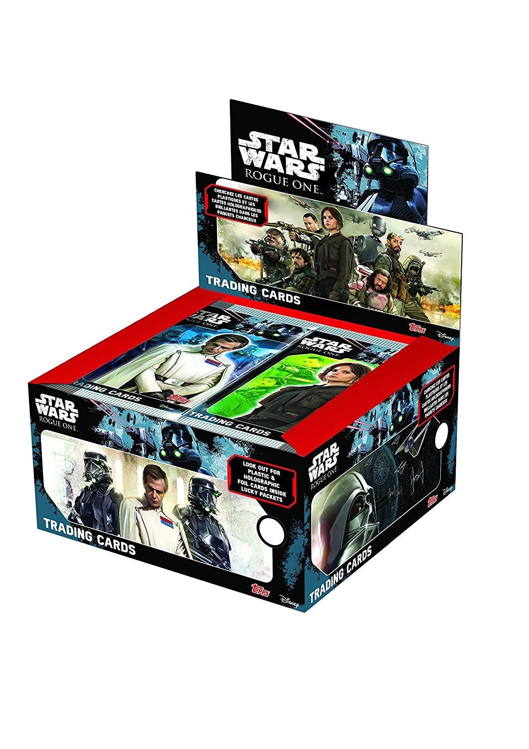 Topps D105813-DE2-D - Star Wars Rogue One Sammelkarten, Display mit 50 Boostern, 5 Karten