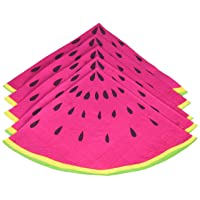 Ginger Ray, Pink Summer Fruits Watermelon Slice Party Paper Napkins, 33 cm