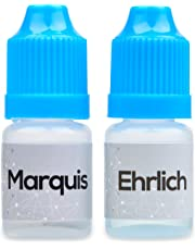 Marquis and Ehrlich Reagent testing kit.Two bottles With ID Cards and Tube