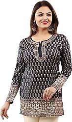 Women Fashion Casual Short Indian Kurti Tunic Kurta Top Shirt Dress 56A