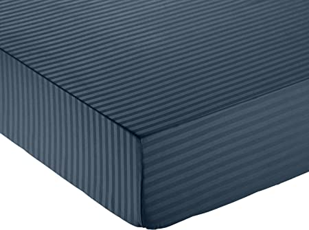 AmazonBasics Deluxe Microfiber Fitted Sheet, Double - Navy Blue: Amazon.co.uk: Kitchen & Home