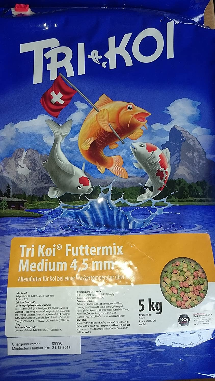 10 kg Tri Koi Feed Mix 15 °C – KOIFUTTER from Switzerland – 4 – 5 mm
