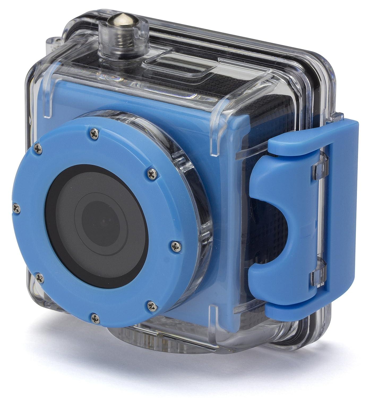 Kitvision Splash Waterproof Full HD 1080p Wasserfeste Sport Action Camera mit Halterungsset und Wasserdichtem Gehäuse für Unterwasserfotografie Tauchen - Blau