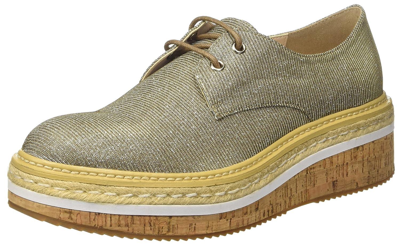 CINTI D1-08 - Zapatos Brogue Mujer 38 EU Multicolor (Oro\argento 729)