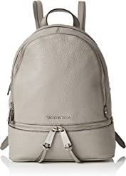 MICHAEL MICHAEL KORS Rhea Small Leather Backpack (Pearl Grey) 6ebf9c8c0bdba