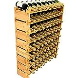 DECOMIL 72 Bottle Stackable Modular Wine Rack Wine Storage Rack Solid Bamboo Wine Holder Display Shelves, Wobble-Free (Eight-