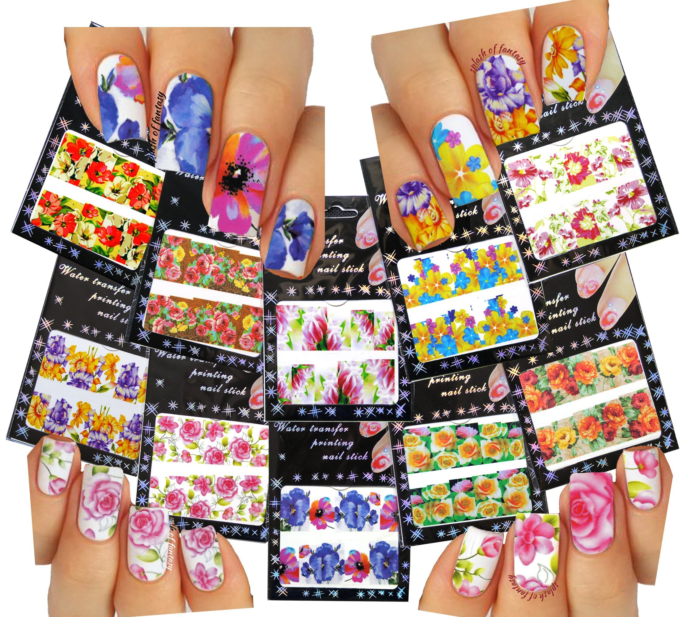 amazon com   nail art water slide tattoo decals  u2665 full
