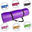 KG Physio Premium Yogamatte - Gymnastikmatte, Fitnessmatte, trainingsmatte oder Zuhause mit Schultertragegurt 183 cm x 60 cm x 1 cm