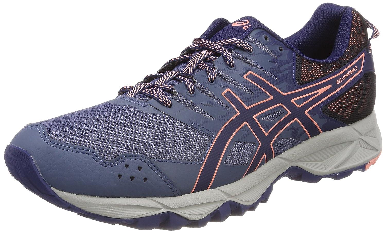 Asics Gel-Sonoma 3, Zapatillas de Running para Asfalto para Mujer 36 EU|Multicolor (Smoke Blue/Indigo Blue/Begonia Pink 5649)