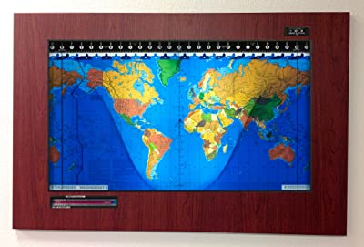 Amazon original kilburg geochron world clock finish wood geochron kilburg world clock boston cherry with black trim gumiabroncs Choice Image