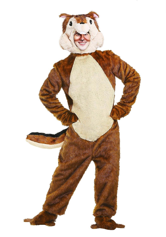 Fun Costumes Streifenhörnchen Kostüm für Erwachsene - XL