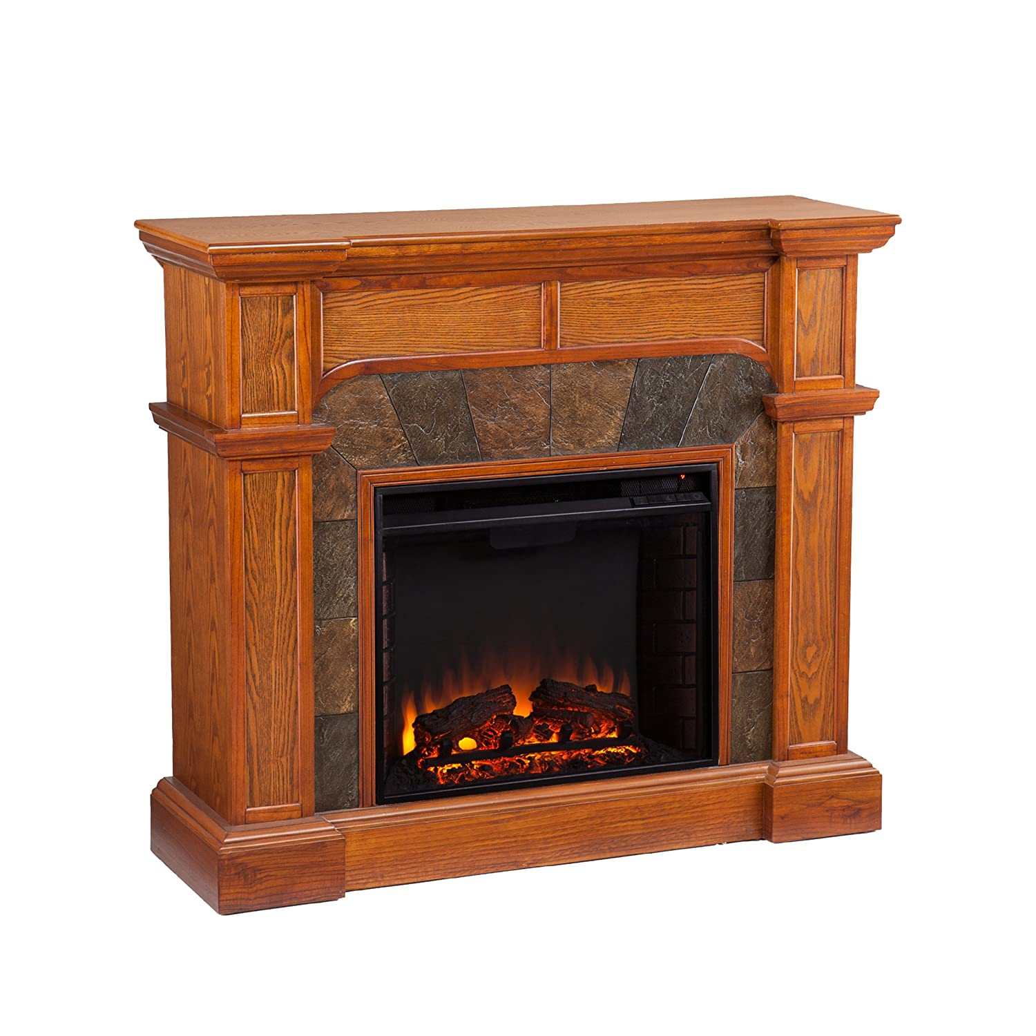 Amazon.com: Cartwright Convertible Electric Fireplace - Mission Oak: Kitchen & Dining