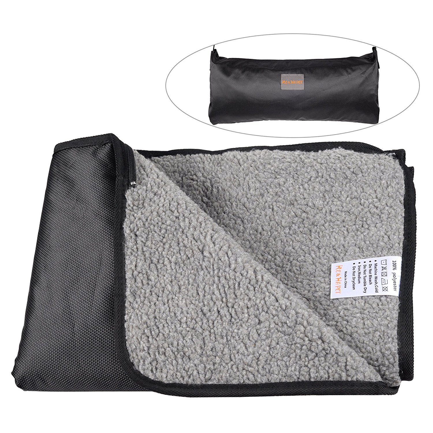 Waterproof Pet Blanket He&Ha Pet Dog Blankets Large Outdoor and Indoor for Dogs and Cats with Storage Bag